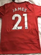 Daniel James Signed Manchester United Shirt Coa Aftal