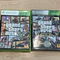 (2)Games Lot Grand Theft Auto 4 5 GTA IV V Episodes From Liberty City Xbox 360