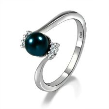 S925 Rings Jewelry Elegant Natural Freshwater Pearl Engagement Wedding Party