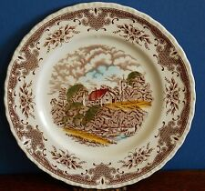 "A Grindley Hand coloured Dessert Plate ""The Glebe Farm"" – Scenes after Constable"