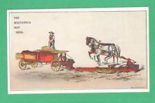 ANTIQUE TRADE CARD THE SOUTHWICK HAY PRESS SANDWICH, ILL. FARMER HORSES WAGON