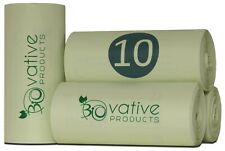 Kompostierbare Bio-Müllbeutel 10 Liter - 100 besonders reißfeste Bio-Müllbeutel