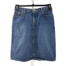 Polo Jeans Ralph Lauren Women Jean Skirt Size 2 Blue A Line
