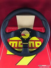 MOMO Team Tuner 300MM Black Leather Black Spoke Steering Wheel  TEA30BK0B