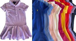 Girls Ex Ralph Lauren Cotton Mesh Polo Dress 2 3 4 5 6 7 8 9 10 11 12 13 14 16