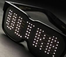 Gafas de LED de Bluetooth, Pantalla programable, Luz Rave Fiesta Smart Sol Cristal