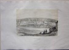 1838 TRONÇAIS litografia Frédéric Lehnert Allier Desrosiers Troncais Auvergne