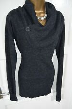 LADIES SIZE 10 12 *ALL SAINTS* GREY CASHMERE ANGORA LAMBSWOOL WARM JUMPER