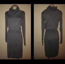 DAISY FUENTES CHARCOAL HEATHER SMALL SM COWL NECK SWEATER WOMEN'S DRESS NEW