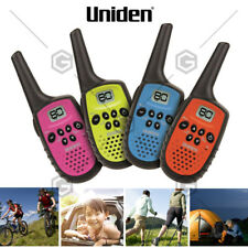 Uniden UH35-4 UHF Quad Colour Pack 4 Handheld 80Ch Radio Walkie Talkies +4 Belts