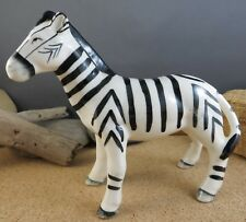 Vintage Black & White Zebra Porcelain 1940's Figurine Africa Wild Animal