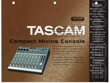 """Vintage Ad Sales Sheet: Tascam """"M-08 Compact Mixing Console"""""""