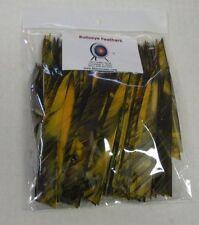 "Bullseye 5"" RW Shield Cut Arrow Feathers Golden Embers Camo Pkg of 100"