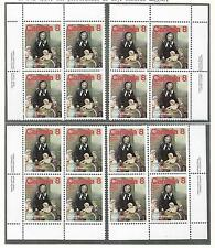 pk28383:Stamps-Canada #660 Marguerite Bourgeoys 8 cent Set of Plate Blocks-MNH