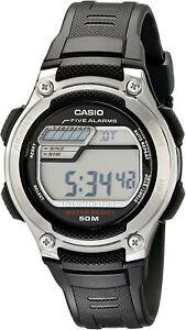Casio Men's Classic Digital Quartz 5-Yr Battery Black Resin Watch W212H-1AV