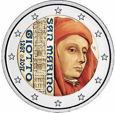 San Marino 2 Euro 2017 Giotto di Bondone Stempelglanz Gedenkmünze in Farbe