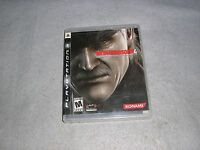 Metal Gear Solid 4 Playstation 3 PS3 COMPLETE TESTED WORKING Not For Resale