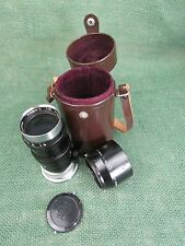 Nikon 13.5cm f3.5 Nikkor-Q Black Lens w/shade and leather case