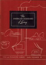 1937 American Standard Living Booklet Americana Culture Economy Health Education