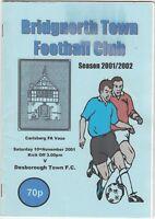 Bridgnorth Town v Desborough Town 2001/2 (10 Nov) FA Vase