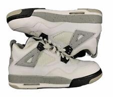 Jordan Retro IV 4 White Cement Black Fire Red Grey OG Bred 836016-192 Sz 6.5Y