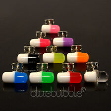 FUNKY UNISEX SINGLE CHILL PILL EARRING FUN COOL 80s 90s DANCE RAVE NOVELTY EMO