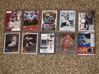 10 Card Auto Jersey Lot Topps Chrome UD Panini Baseball MLB NFL RC Autograph Lot