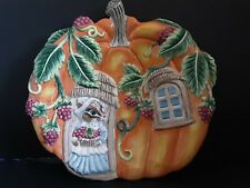 Fitz And Floyd Collectors Plate Harvest Time Chipmonk Pumpkin Shaped