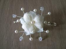Attache/Remonte Traine/Broche Ivoire/Cristal Fleur robe Mariée/Mariage pas cher