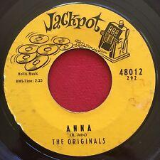 THE ORIGINALS ~ ANNA / SLEEPLESS HOURS ~ R&B SAX ROCKER INSTR 45 ~ JACKPOT 48012