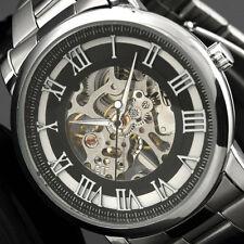 Winner Stainless Steel Case & Strap Skeleton Mechanical Watch