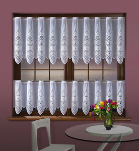 "White Cafe Net Curtain Sold by the metre 20"" or 28"" Drop Windows Decor Interior"