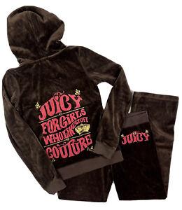 Vintage Juicy Couture Velour Tracksuit Brown Logo Jacket Pants Paris Hilton Y2K