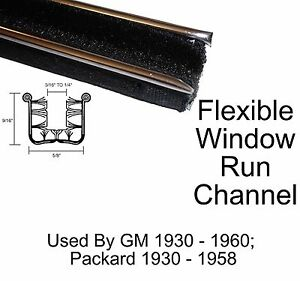 1935 - 1958 Packard Window Run Channel Pair