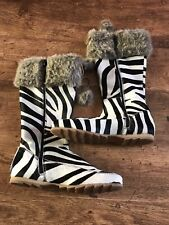 boden boots size 6 New Black White