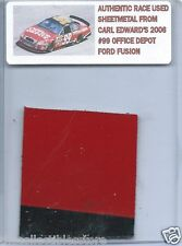 CARL EDWARDS 2006 OFFICE DEPOT FORD FUSION AUTHENTIC NASCAR RACE USED SHEETMETAL