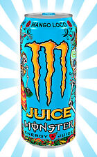 Monster Juice Mango Loco Energy Drink Sugar Skull LIMITED EDITION EMPTY Can 12OZ