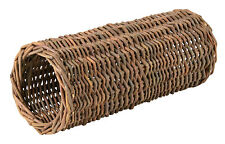 Natural Wicker Hideaway Tube Toy for Gerbils Mice Hamsters Rodents 25cm