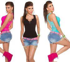 Figurbetonte Taillenlang Damenblusen,-Tops & -Shirts im Trägertops-Stil für Party