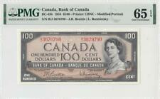 1954 BANK OF CANADA QEII $100 **Beattie & Rasminsky** (( PMG 65 EPQ ))