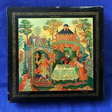 Russian BIG LACQUER Box /CHURILA/ HOLUI Art Painting Old Soviet SIGNED 1960s