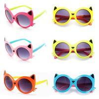 Sunglasses Baby Girls Boy Cartoon Cat UV400 Eyeglasses Toddler Sunglasses DQUS