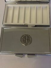 Denarius Of Otho Roman Coin WC20 Pewter On A Mirrored 7 Day Pill box Compact
