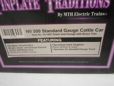 MTH 10-1087 Tinplate Traditions  500 Series Standard Gauge Cattle Car