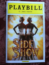 Sideshow  revival playbill Dec 2014  St. James Theatre NYC Broadway
