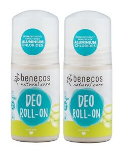 Benecos Aloe Vera Roll-on Deodorant 50ml (Pack of 2)