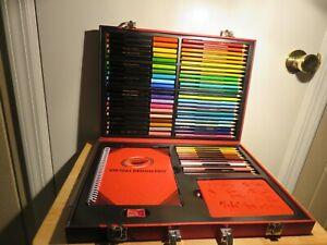 2014 Crayola Art Set Case Includes 36 Colored Pencils 20 Colored Pens Stencils