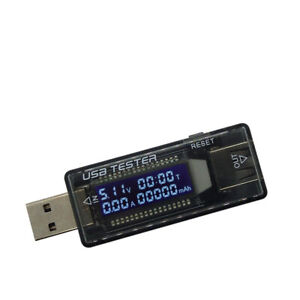 Power Bank Meter Ammeter Tool USB Current Voltage Tester Charger Capacity
