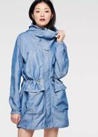 G-star Raw Atlanta Chambray Parka Blue Coat Ladies Size UK XS *REF50