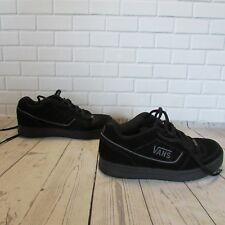 VANS Youth Vans Malone Black Leather Upper Lace Up Sneakers Shoes Size 7.5 Boy's